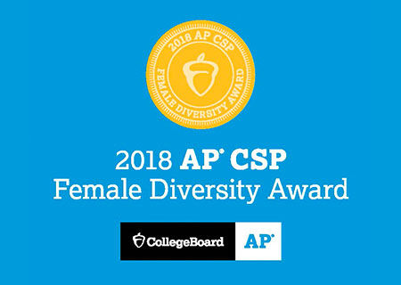 GHS Earns First College Board  AP Computer Science Female Diversity Award