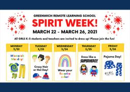 Greenwich Remote Learning School to Celebrate Spirit Week