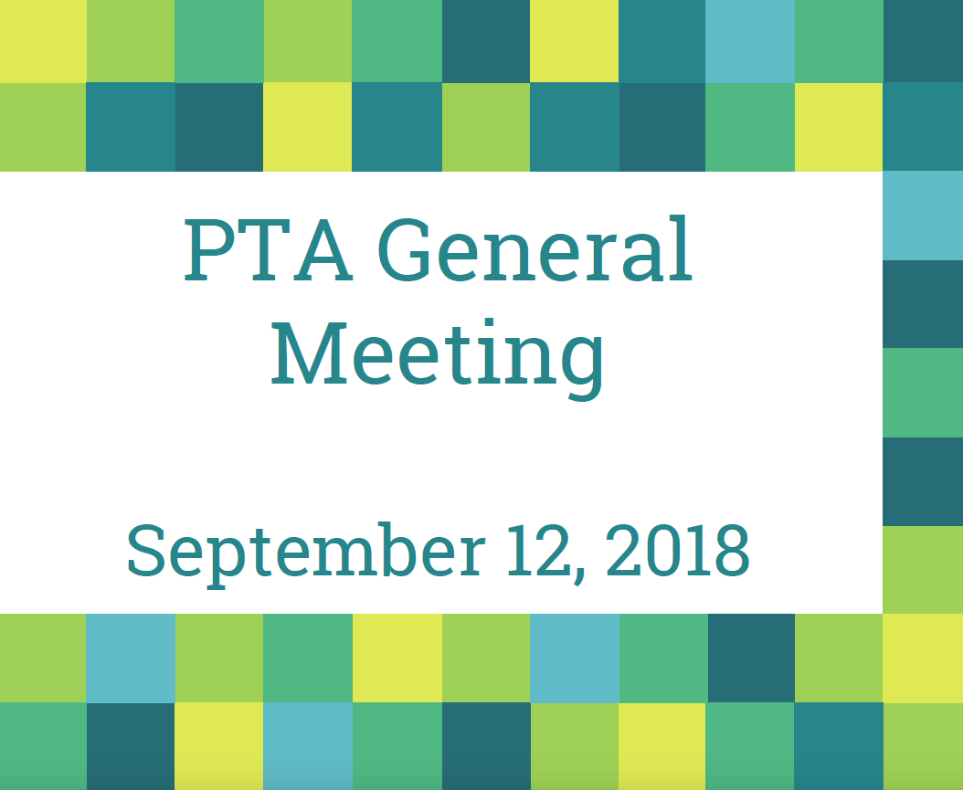 PTA General Meeting Cover Page